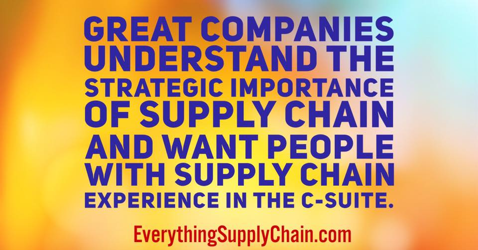 supply chain CEO c-suite strategy -