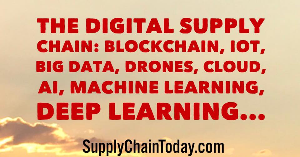 blockchain iot machine learning digital supply chain drones