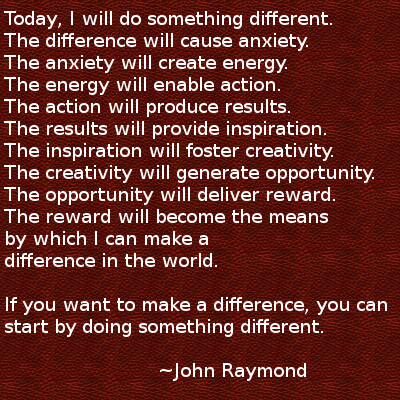 John Raymond Make a Difference quote
