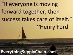 Supply Chain Henry Ford Success Quote