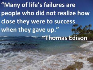 Supply Chain Quote Thomas Edison