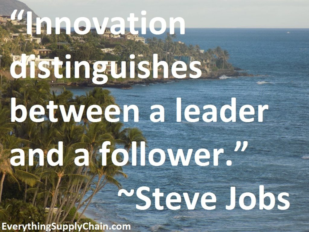Supply chain Steve Jobs quote Innovation