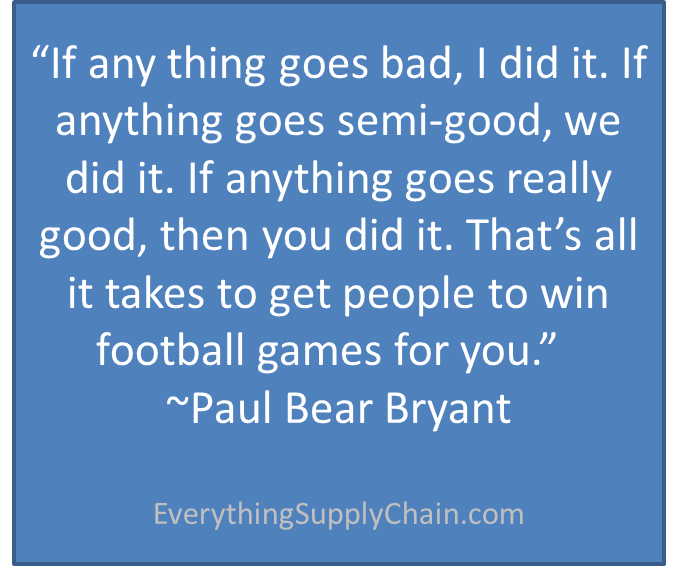 Paul Bear Bryant Supply Chain