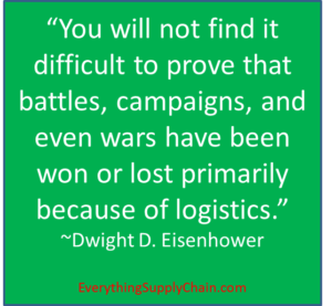 Importance of logistics quote