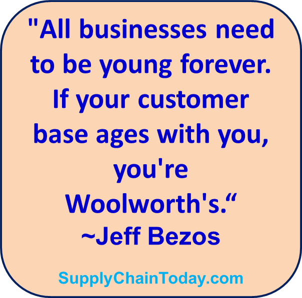 Jeff Bezos Amazon Woolworths quote supply chain