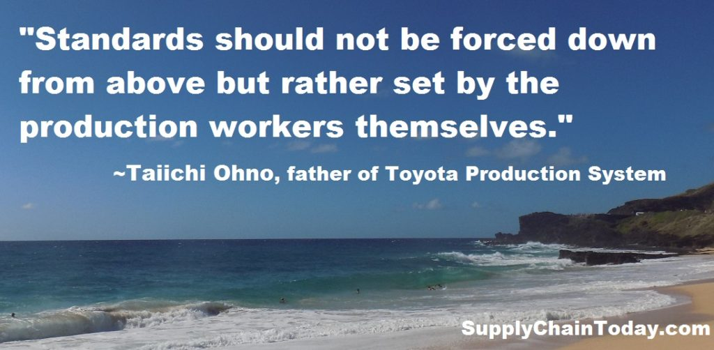Taiichi ohno Toyota Production System quote