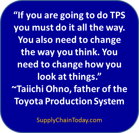 Taiicho Ohno Toyota Production System quote father of TPS