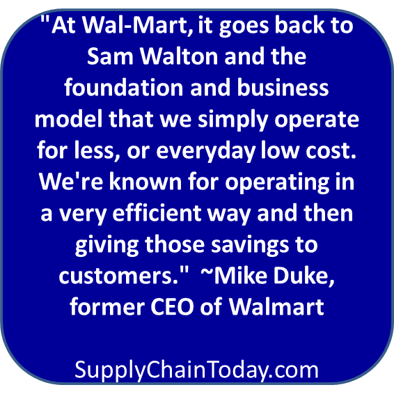 Walmart history Mike Duke CEO supply chain