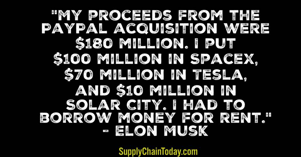 Elon Musk quotes Tesla Paypal SpaceX