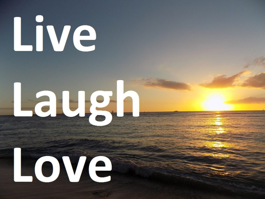Live Love Laugh Quote Ocean