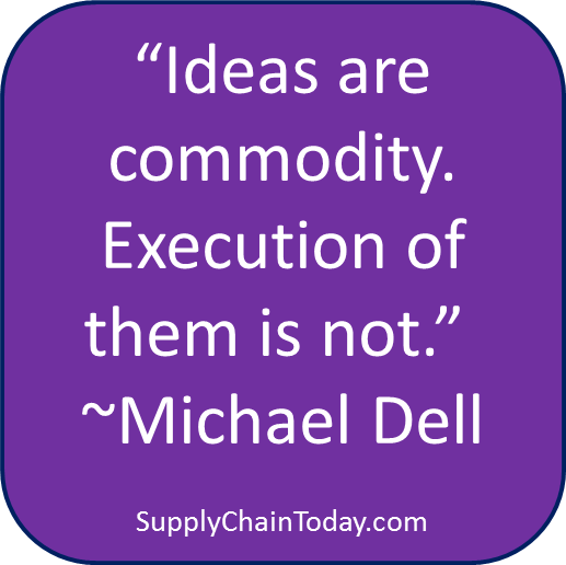 Michael Dell Supply Chain Ideas quote