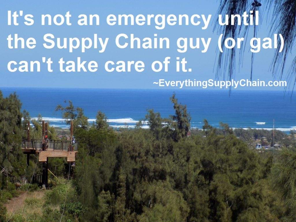 Supply Chain emergency quote
