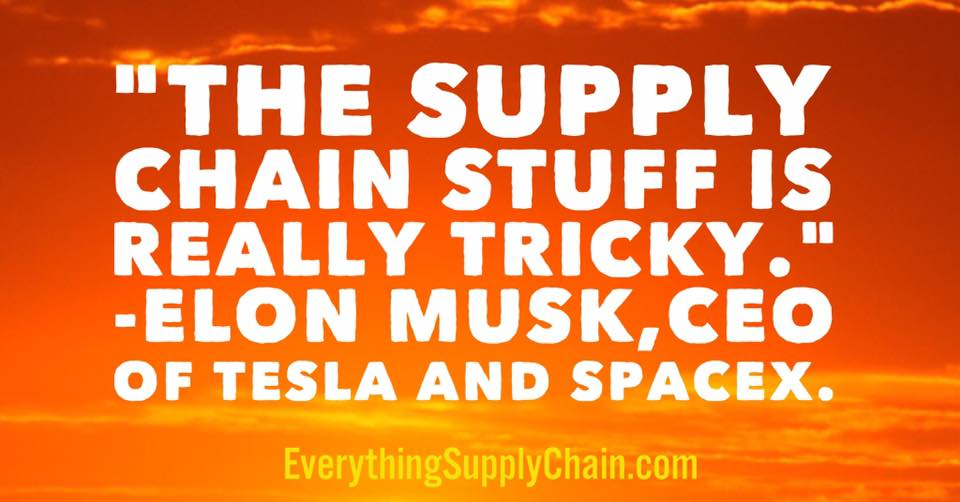 CEO elon musk supply chain