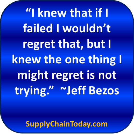 Jeff Bezos Amazon Supply Chain Regret quote