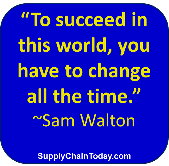 Sam Walton Walmart change supply chain