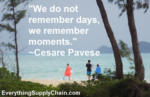 We do not remember days, we remember moments quote