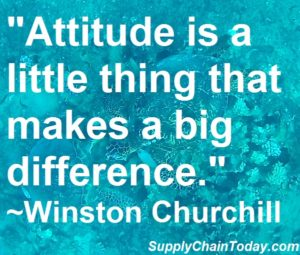 Winston Churchill attitude is a little thing that makes a big difference