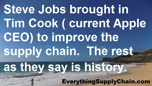 Apple CEO Tim Cook creating top supply chain steve jobs
