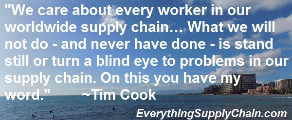 Tim Cook Apple Supply Chain