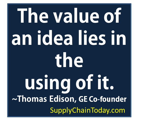 Thomas Edison value in an idea