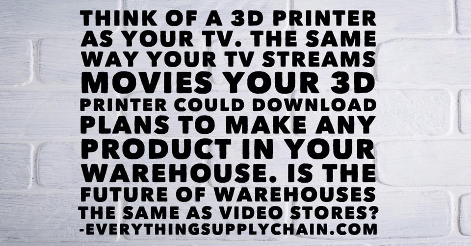 Supply Chain 3D Printing