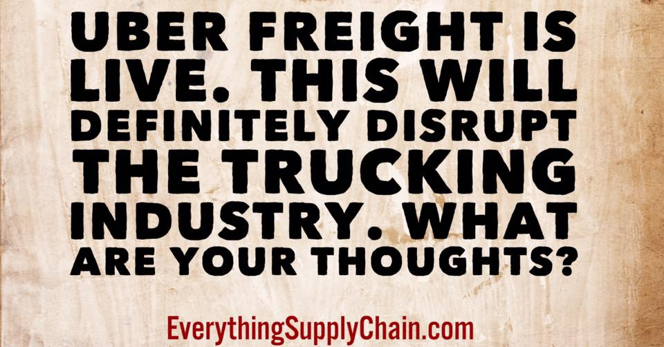Uber Freight supply chain