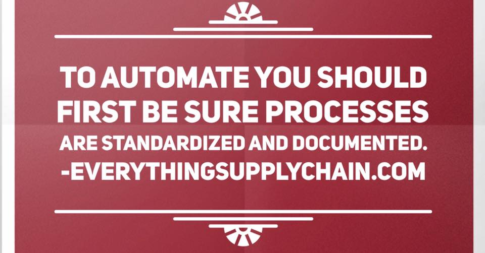 supply chain standardized processes