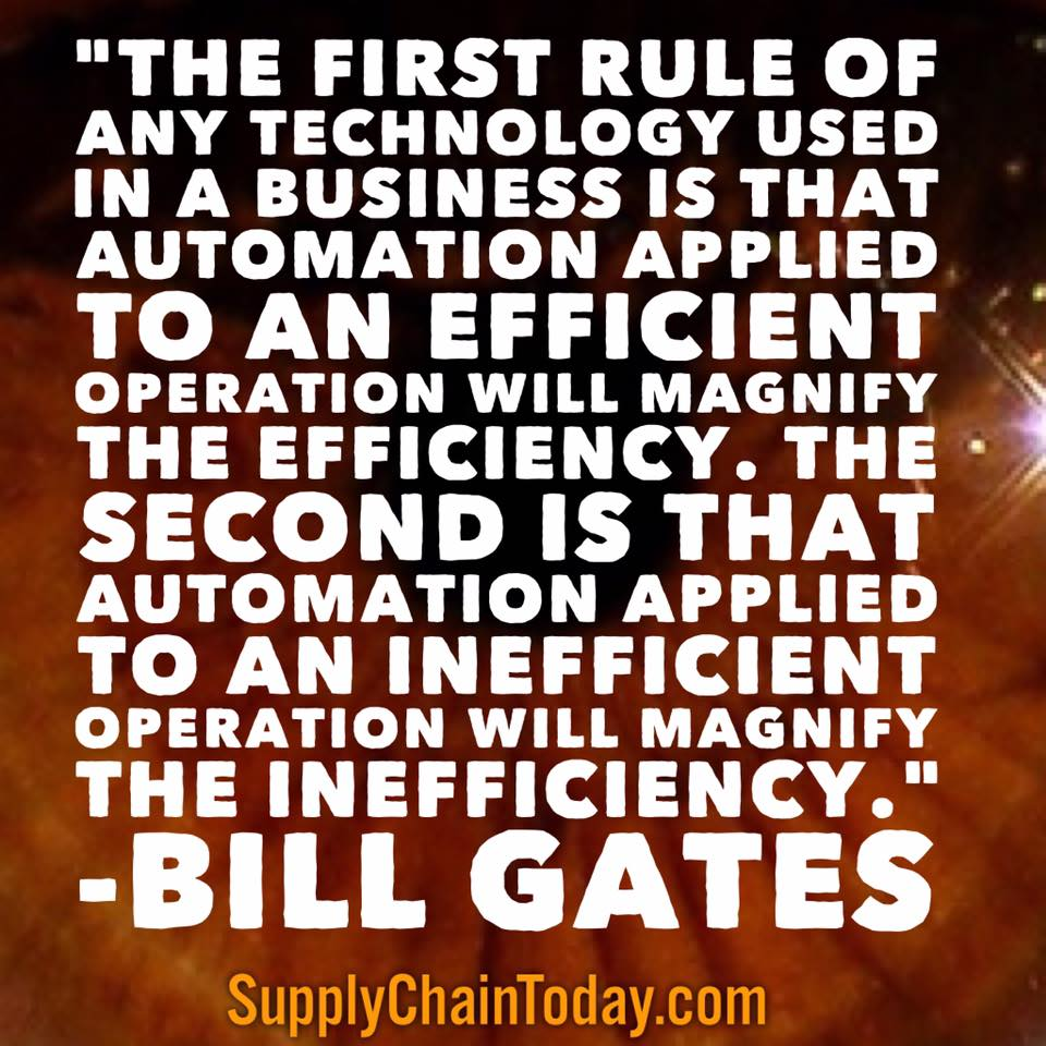 supply chain automation Bill Gates