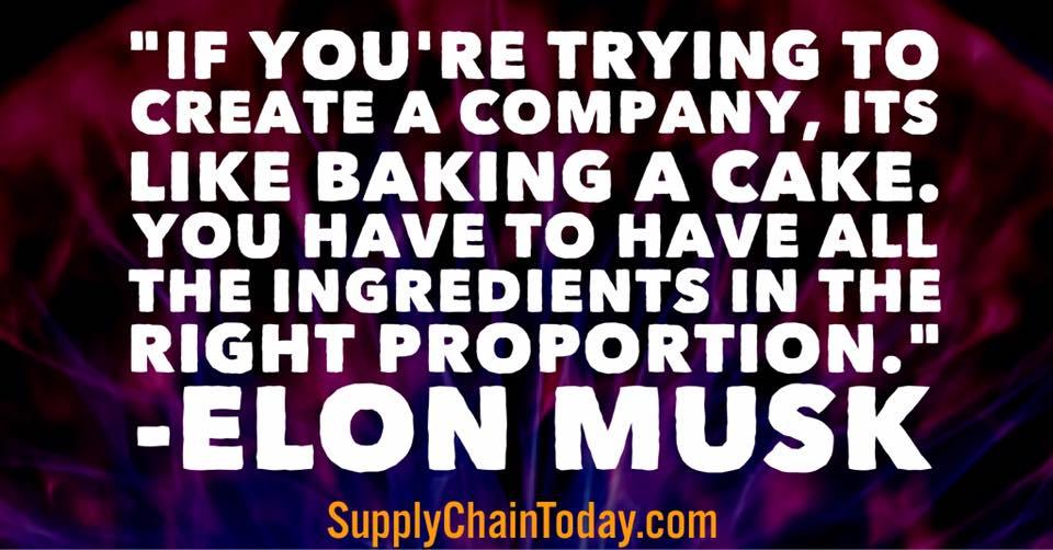 Elon Musk supply chain MBA