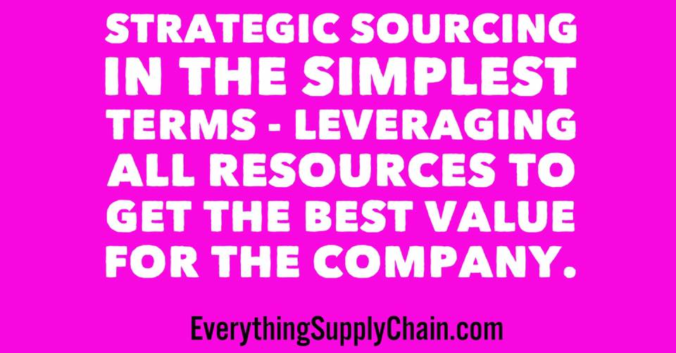 Strategic Sourcing supply chain