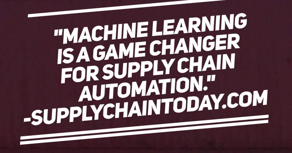 machine learning game changer supply chain automation