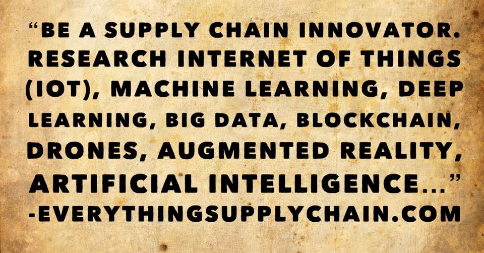 machine learning artificial intelligence deep learning supply chain automation